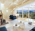 Całoroczny dom z bali w górach